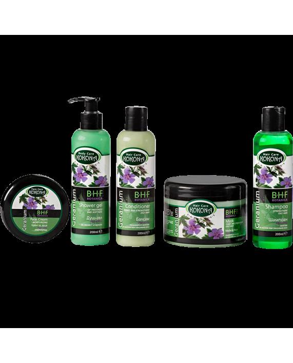 BOTANICA B.H.F. Маска за коса Здравец - тонизираща – Зелено сияние на Вашето внимание!