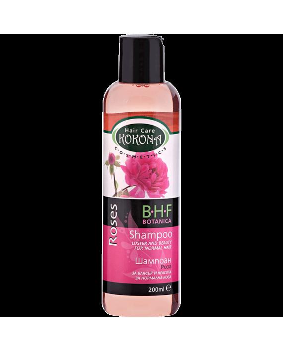 BOTANICA B.H.F. Шампоан Роза - за нормална коса – Зелено сияние на Вашето внимание!