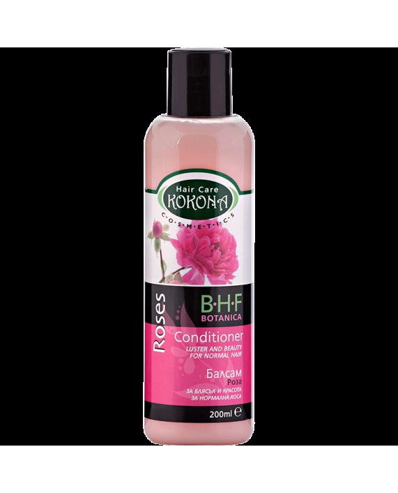 BOTANICA B.H.F. Балсам Роза - за нормална коса – Зелено сияние на Вашето внимание!