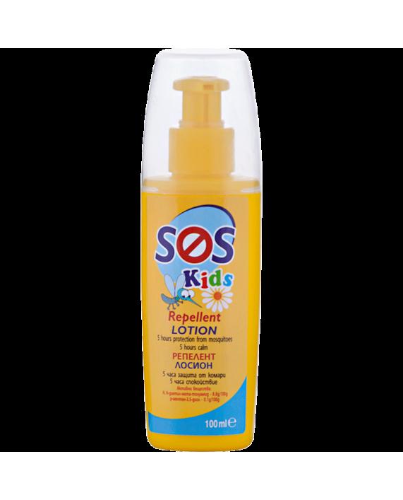 SOS KIDS Репелент лосион – Защита от комари, където и животът, да Ви свари!