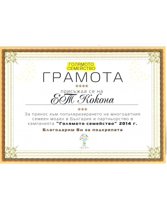 "AWARD ""THE BIG FAMILY"" 2014"